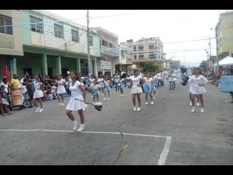 """Banda Musical y Bastoneras """"Isla San José""""- Desfile Barrio Garay"""