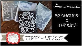 Neu Aufbewahrung Thinlits & Framelits - Stampin´Up! - Step by Step - Anleitung