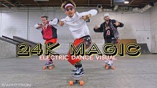 @BrunoMars - 24k Magic Electric Skateboard / Scooter / Hoverboard Dance