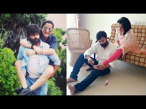 Eeramana rojavae Serial Pughal(Shyam) Family with wife Swapna Lovely collection