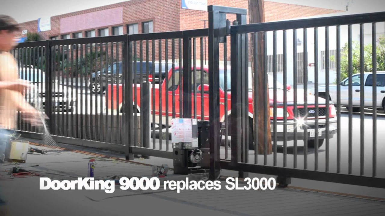 Dks Gate Opener >> DoorKing 9000 Vehicular Sliding Gate Operator Replaces SL3000 - YouTube