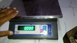 How to Calibration 30kg weighing scale