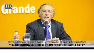 "Video: Hernández: ""La autonomía municipal es un debate de larga data"""