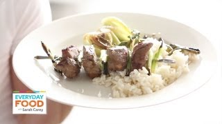 Beef Skewers With Scallions | Everyday Food With Sarah Carey