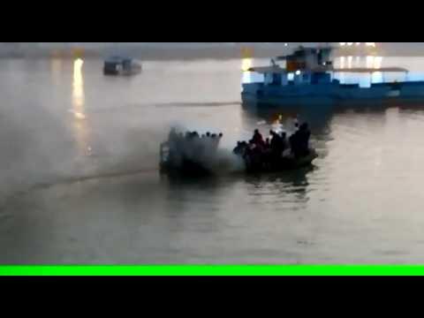 ganga river Patna law college ghat ke pas ki boat durghatna...