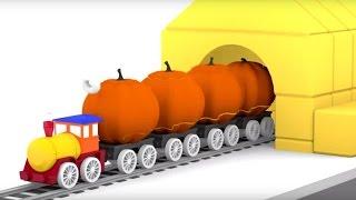 Lehrreicher Zeichentrickfilm - Die 4 kleinen Autos - Halloween steht vor der Tür