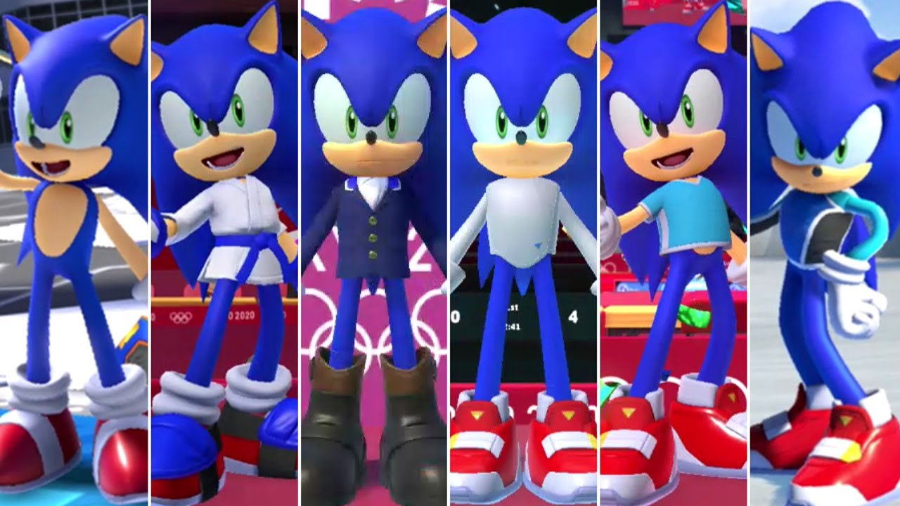 [VIDEO] - Mario & Sonic at the Olympic Games Tokyo 2020 - All Sonic Outfits 8