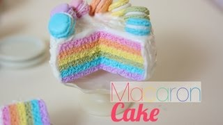 Rainbow Macaron Cake - Polymer Clay Tutorial Thumbnail