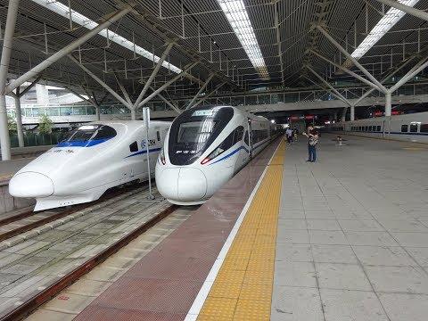 China CRH High Speed rail trip from Guanzhou to Fuzhou and Quanzhou via Shenzhen