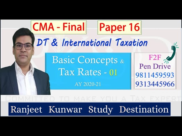 Basic Concepts and Tax Rates 01