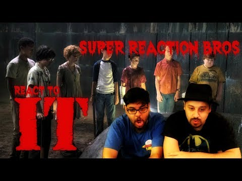 SUPER REACTION BROS REACT & REVIEW It Official Trailer!!!!
