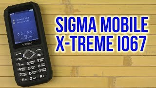 Розпакування Sigma mobile X-treme IO67 Black