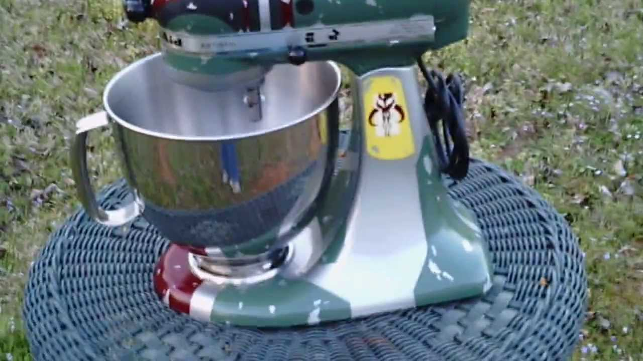 custom painted boba fett kitchenaid youtube