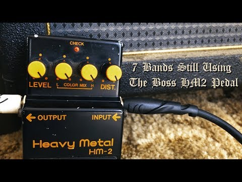 7 Bands Still Using The Boss HM2 Pedal Today
