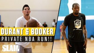 Kevin Durant & Devin Booker TEAM UP at Rico Hines Private NBA Run! | SLAM Highlights