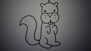 Hoe teken je een eekhoorn (makkelijk) (how to draw a squirrel)