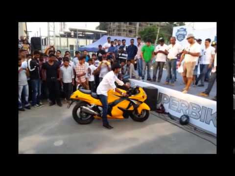 Suzuki Hayabusa Loudest Exhaust Contest. India Superbike Festival Bangalore.