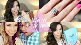 We're Engaged! All About The Ring + Proposal Story | Hayleypaige