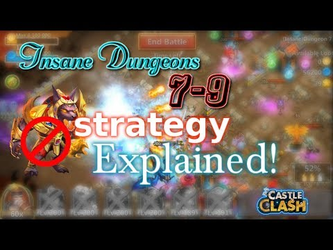 Castle Clash Insane Dungeon 7-9 Strategy Explained