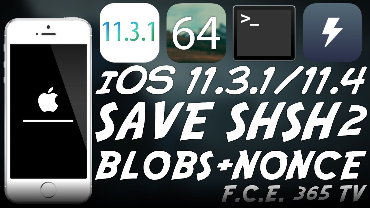 iOS 11 3 1 - How to Save SHSH2 Blobs With NONCE (A10/ A11) For Downgrades