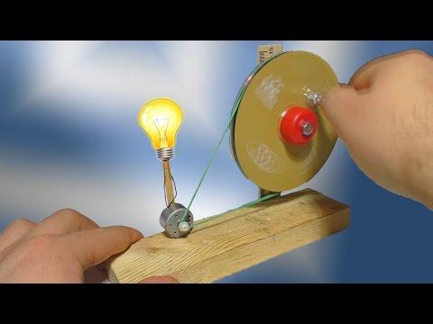 Генератор из моторчика и дисков . DIY-идеи .