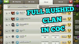 CLASH OF CLANS (ALL RUSHED PLAYERS IN ONE CLAN) COC