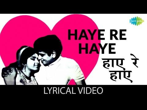 Haaye re Haaye with lyrics   हाय रे हाय गाने के बोल   Humjoli   Jeetendra, Leena Chandravarkar