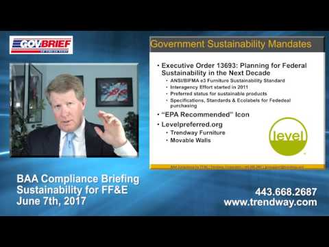 Compliance Briefing – Buy American Act (BAA) & Sustainability for FF&E