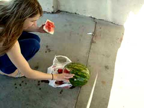 eat watermelon and loiter