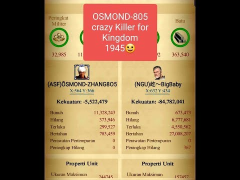 CLASH OF KINGS KVK 1945 VS 381 KING OSMOND-805 THE BEST PLAYER