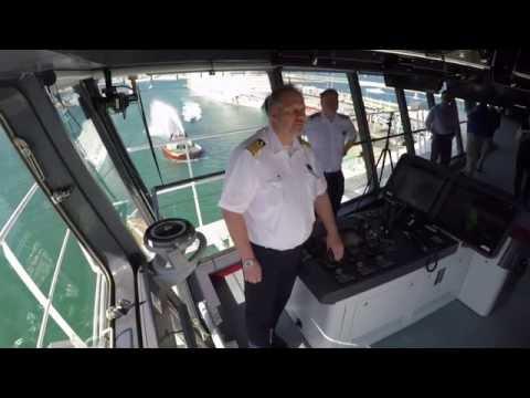 Harmony of the Seas - Barcelona sailaway from the bridge