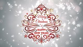 Happy New Year Merry Christmas Animated Background Loop