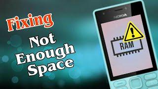 Fixing Not enough memory ( RAM Management ) in Nokia 216 |Hindi|