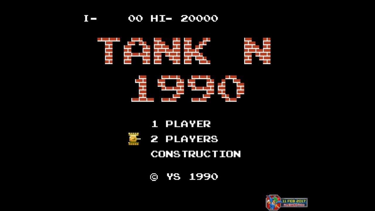 Tank 1990 (1990, NES; Battle City) - Mode N (2 Players)[1080p60]