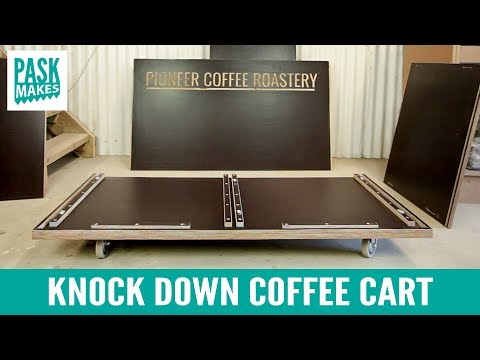 Knock Down Coffee Cart