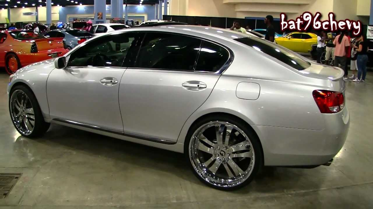 2006 Lexus Gs 300 On 24 U0026quot  Forgiatos Chrome Wheels - 1080p Hd