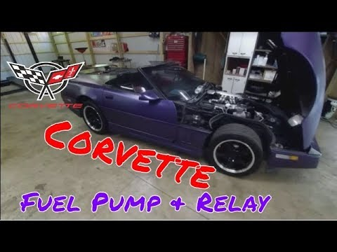 Corvette Fuel Pump And Relay No Fuel Pressure Replacement Tpi L98 C4 Will Not Start Youtube