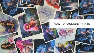 HOW TO PACKAGE ART PRINTS + save money on shipping!