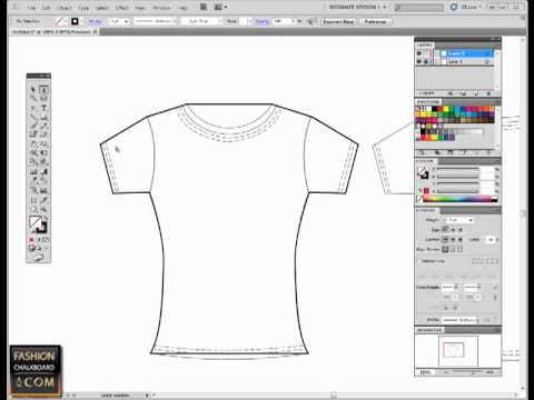 Fashion Flat Sketch In Illustrator Pen Tool Tutorial