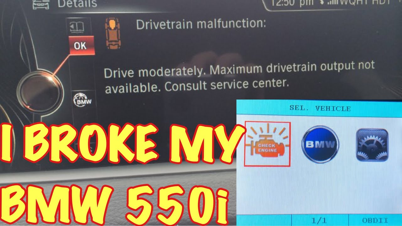 I BROKE my BMW 550i F10 - Diagnosing Check Engine Light with Creator C501  Scanner