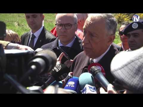 Presidente da República esteve em Lamego e visitou o local da explosão