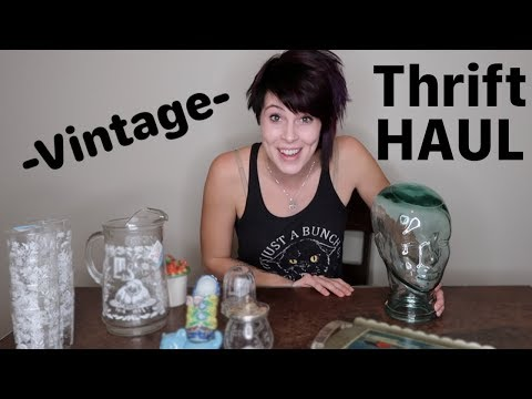 Thrift Store Haul | Sterling Silver, Glass Head, and Vintage Iced Tea Set