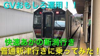 【GVおもしろ運用!!】快速あがの新潟行き普通新津行きに乗ってみた!