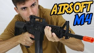 TESTEI A METRALHADORA DE AIRSOFT MAIS POTENTE DO MUNDO (M4)