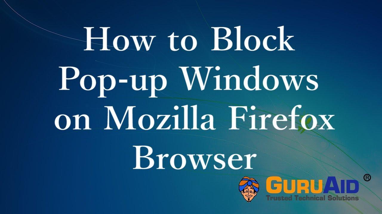 Block pop up windows