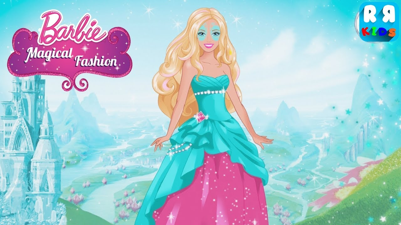 Barbie Magical Fashion Budge World Games For Girls Youtube