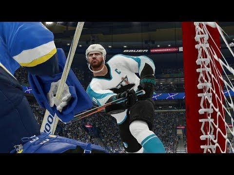 NHL 19 Gameplay San Jose Sharks vs St Louis Blues Full Game NHL 19 Full Sim CPU vs CPU