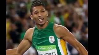 World record Wayde van Niekerk with Michael Johnson commentary