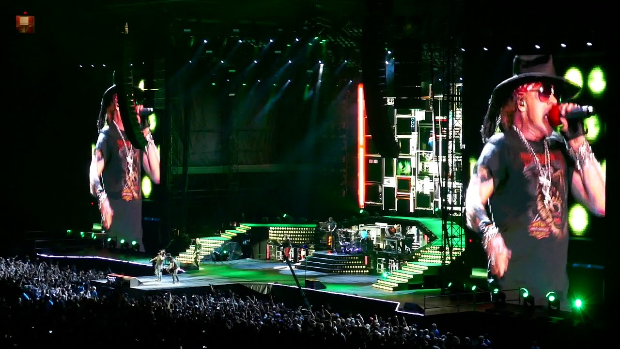 guns n 39 roses welcome to the jungle vancouver 01 09 17 youtube. Black Bedroom Furniture Sets. Home Design Ideas