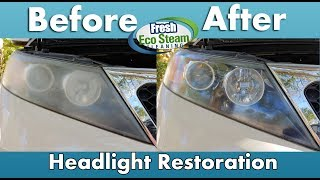 Headlight Restoration Quick | Fresh Eco Steam Cleaining